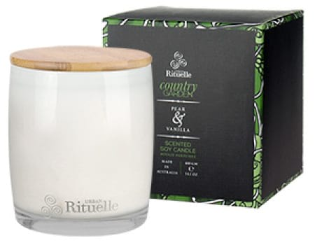 COUNTRY GARDEN Pear and Vanilla Scented Soy Candle by Urban Rituelle