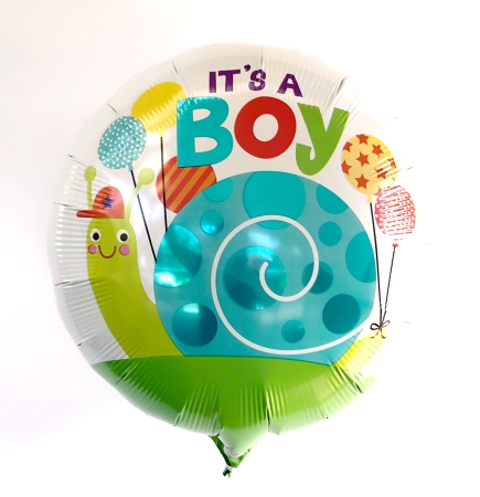 It`s A Boy Snail Helium Balloon