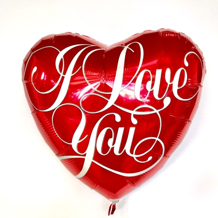 I Love You Red Heart Helium Balloon