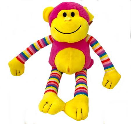 Milo the Monkey Hot Pink