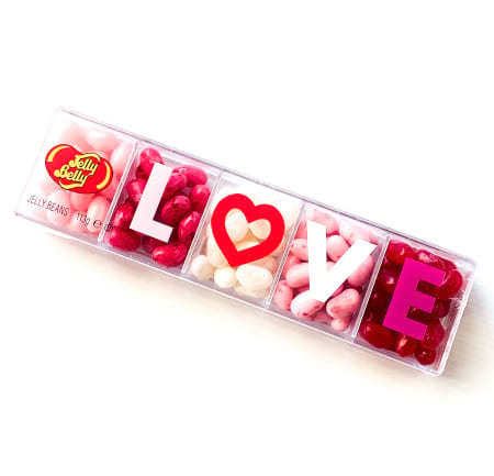 Jelly Belly 5 Flavour LOVE Clear Gift Box