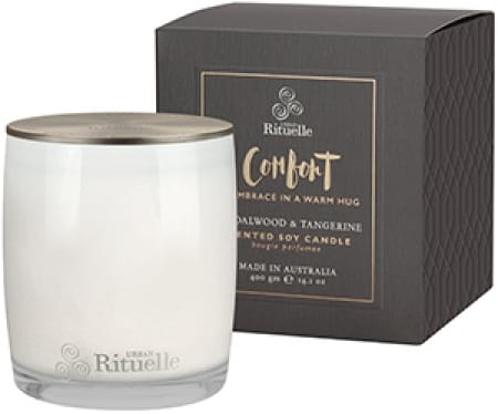 COMFORT Sandalwood & Tangerine Scented Soy Candle