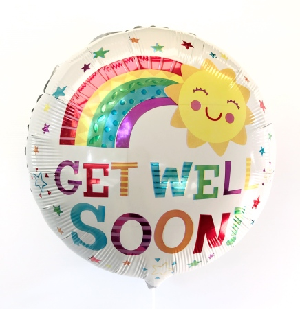 Get Well Soon Happy Sun Helium Balloon