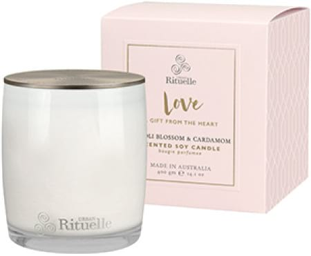 LOVE Neroli Blossom & Cardamom Scented Soy Candle by Urban Rituelle