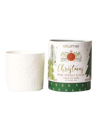 Christmas Pine Needle And Sage Natural Soy Candle  By Elume