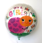 It`s A Girl Ladybug Helium Balloon