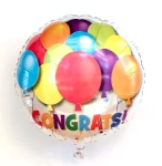 Colourful Congrats Helium Balloon