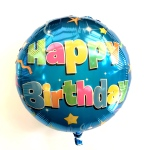 Happy Birthday Blue Foil Helium Balloon