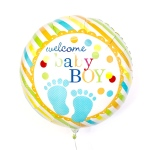 Welcome Baby Boy Helium Balloon